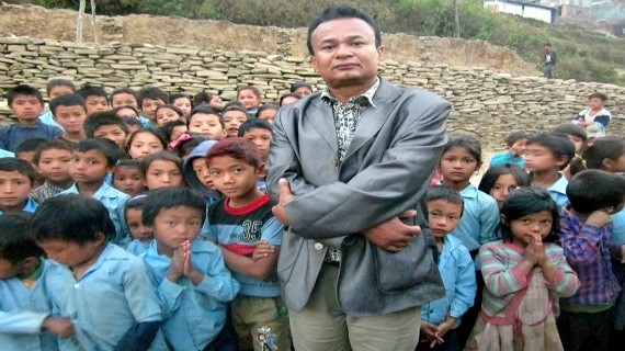 Mr Nhisutu is with our mission children